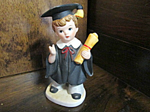 Vintage Graduation Male Figurine