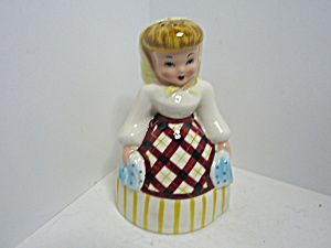 Vintage Napco Ceramic Powder Cleaner Shaker Figurine
