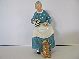 Royal Daulton Grandma With Cat