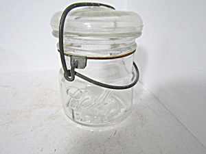 Vintage Ball Half-pint Ideal Wire Bail Fruit Jar