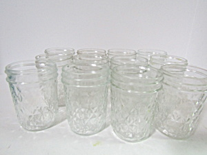 Vintage Ball Quilted Crystal Jelly Jars Dozen