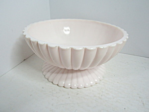 Vintage Shell Pink Peach Milk Glass Mod Bowl