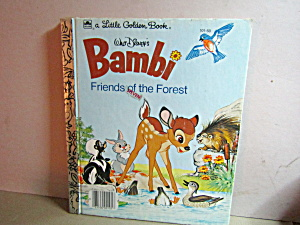 Little Golden Book Disney's Bambi Friends Of Theforest