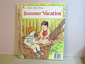 Vintage Little Golden Book Summer Vacation