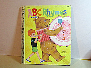 Vintage Little Golden Book Abc Rhymes