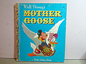 Vintage Little Golden Book Walt Disney's Mother Goose