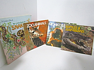 Vintage Four Mini Book Set Zoo Animals