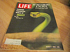 Vintage Life Magazine March 1,1963