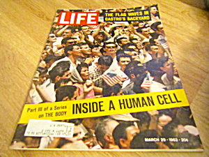 Vintage Life Magazine March 29,1963