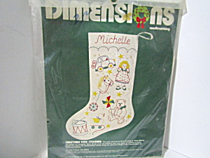 Dimensions Candlewicking Christmas Toys Stocking Kit