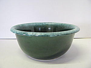 Vintage Hull Green Drip Mixing Bowl