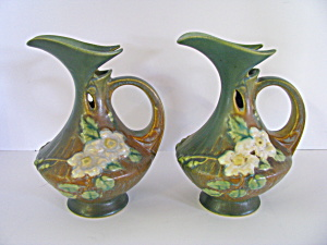Vintage Roseville Decorative Floral Pitcher Vase