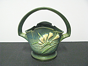 Vintage Roseville Pottery Freesia Basket