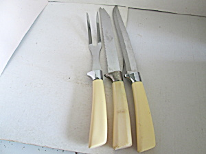 Vintage Quikut Carving & Serving Knife/fork Set