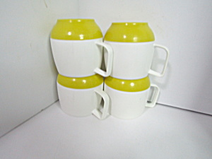 Vintage Dinex -king Seeley Thermos Plastic Cups