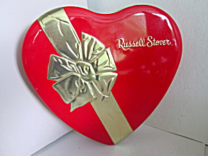 Russell Stover Candy Heart Shaped Tin