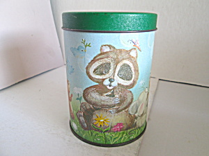 Vintage Collectable Forest Animal Tin
