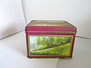 Vintage Princeton Four Seasons Rectangle Tin