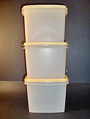 Vintage Tupperware Set Of 3 Rectangle Containers