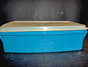 Vintage Tupperware Blue Storage Cantainer