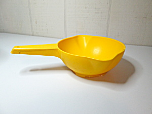 Tupperware Vintage Yellow Strainer