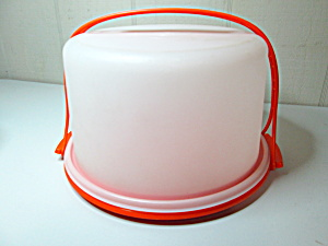 Vintage Orange/clear Cake Carrier