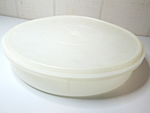 Vintage Tupperware Round Pie/storage Containor
