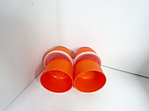 Vintage Tupperware Round Midget Mini Containers