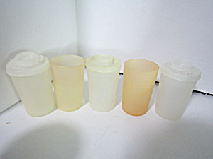 Vintage Tupperware Light Round Spice Containers