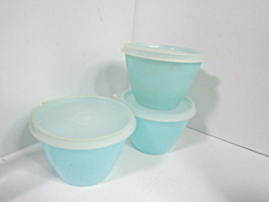 Vintage Tupperware Pastel Bluestorage Bowls