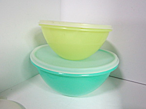 Vintage Tupperware Wonderlier Pastel Storage Bowl Set