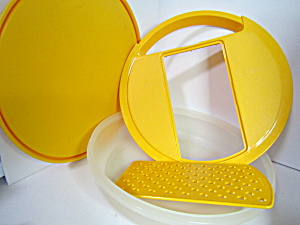 Vintage Tupperware Yellow Grater Bowl Set