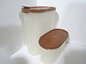 Vintage Tupperware Two Brown Modular Mate Space Saver