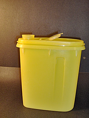 Vintage Tupperware Yellow Juice Pitcher