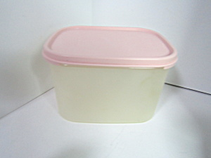 Vintage Tupperware Rectanlge Pink Modular Mate Saver