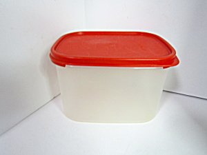 Vintage Tupperware Rectangle Red Modular Mate Saver