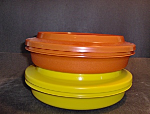Vintage Tupperware Orange Yellow Soup & Salad Set