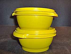 Vintage Tupperware Set Of 2 Storage Bowls With Lids