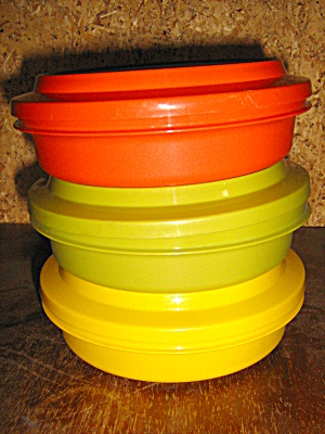 Vintage Tupperware Set Of 3 Soup & Salad Set