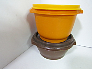 Vintage Tupperware Orange/brown Servalier Bowls