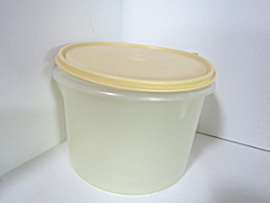 Vintage Tupperware Round Harvest Gold Canister Set