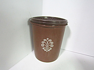 Vintage Tupperware Servalier Small Brown Canister