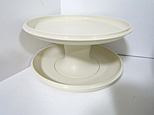 Vintage Tupperware Almond Serve-it All Tray