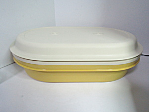 Vintage Tupperware Harvest Gold Multi-purpose Server
