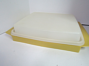 Vintage Tupperware Harvest Gold Deviled Egg Keeper