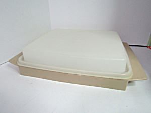 Vintage Tupperware Almond Deviled Egg Keeper