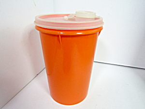 Vintage Tupperware Orange Handolier Beverage Container