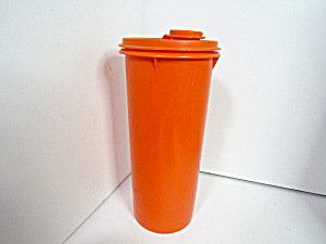 Tupperware Orange Slim Handolier Beverage Container