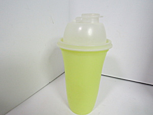 Vintage Tupperware Yellow Quick Shake Mixer Shaker