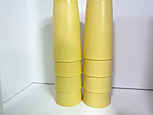 Vintage Tupperware 12 Oz Harvest Gold Tumbler Set